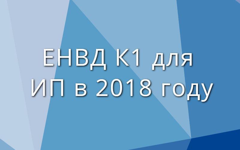 ЕНВД К1 для ИП в 2018 году