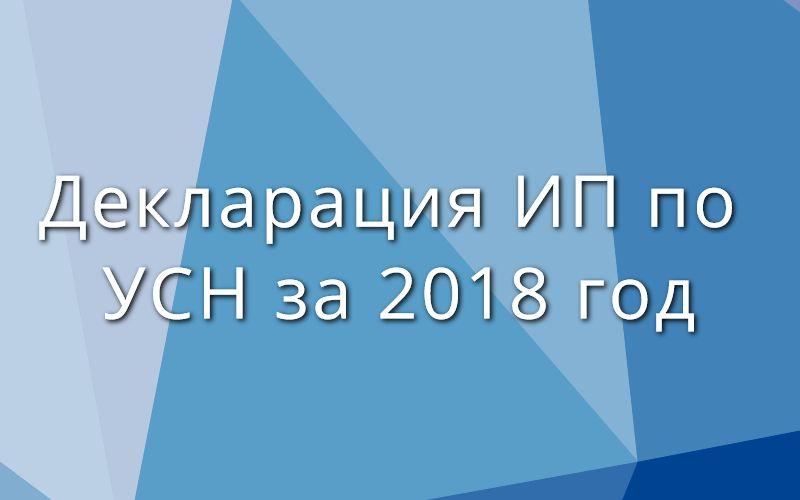 Декларация ИП по УСН за 2018 год – скачать бланк