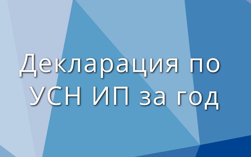 Декларация по УСН ИП за год