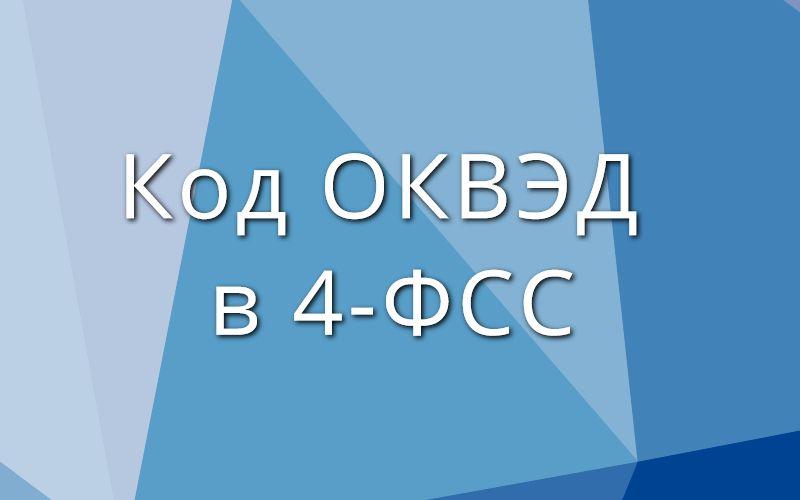 Код ОКВЭД в 4-ФСС