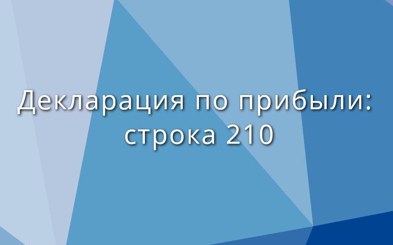 Декларация по прибыли: строка 210